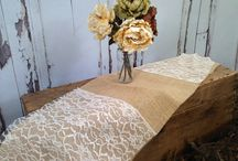 Front Room Ideas / burlap, lace, DIY, and other great finds for our front room