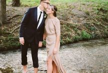 A wedding -holding hands