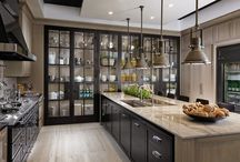 Transitional Kitchen style ideas! | Haas Cabinet / Transitional styling ideas are found here. A mega mix of traditional and modern. Transitional is the new emerging style in kitchen design.