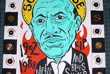 Son House - Blues Art and photos from Mojohand.com / The great Delta Blues man - Son House in pictures and art from Grego Anderson and www.mojohand.com - the world's largest online Blues store and information site - since 2001. Everything Blues!