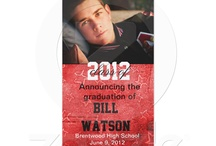 Graduation invites / If you have a kid who is graduating high school or college, these cool invites are perfect for that grundgy feel. / by John F.A.