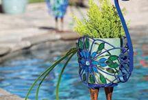 Peacock planter