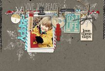 Man and Boy page and card inspiration / by Janine Caron