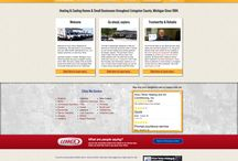 Seasonal Websites / Website designs that feature seasonal aspects and elements built by Online Access, Inc. for HVAC, Plumbing and Electrical Companies
