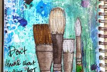 Dear colorful diary... / Art journaling, mixed media, Bible journaling, sketching, doodling...