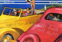 Art: Hitting the Road / More than 164,000 miles of highway stretch across the United States, the world's fourth largest country. With that much road crossing 3.5 million square miles, it's no wonder summer road trips are one of this country's most popular pastimes. Here's a collection of our favorite covers of Americans hitting the open road. / by Saturday Evening Post