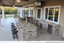 veranda with kitchen