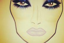 FACE CHARTS / Projekty makijaży