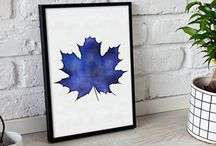 WALL  DECOR / They suits for your living room, bedroom. DIY print and frame by yourself