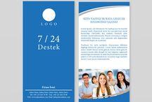 Broşür / İşinizi geliştirmeniz ve pazarlama stratejileriniz için gerekli broşür tasarımları