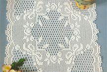 Crochet tapetes cuadrados