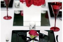 Black White and red decor