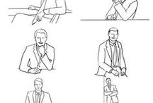 Poses for men / Poses for photosession
