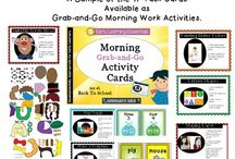 Morning Tubs / Start the morning without worksheets!