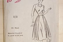 My vintage sewing pattern collection / Pre-1970's sewing patterns, either originals or traced copies. Reproductions not included. (Always willing to trade traced copies of patterns not protected by copyright; just contact me if you find a pattern you'd be interested in.)