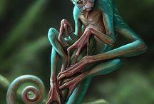 #awsumcreatures / Fantasy and alien creatures