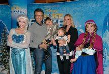 "Jaime e sua família em ""Disney On Ice Frosen"""