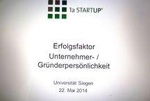Vortrag Uni Siegen Gründerpersönlichkeit / Existenzgründung