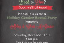 Holiday Gender Reveal Party