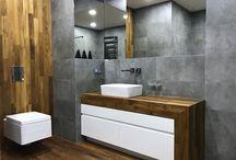 Bathroom / bathroom, grey, wood, contemporary, modern, ideas