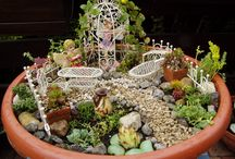 Fairy Garden & decorations made by me