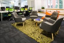 Open plan office soft seating