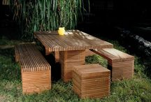 meble z drewna i tektury