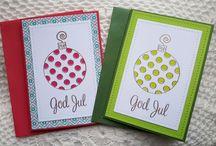 EGNA JULKORT / #cards #scrapbooking #julkort #christmas