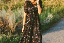 Boheme lange kjoler