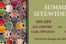 Spice Promotions / All about MySpiceSage.com Special Promotions!