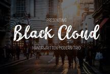 Black Cloud Font Vintage