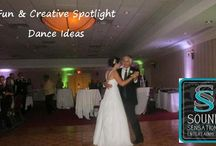 Engaging Spotlight Dance Ideas / The first dance and VIP dances should be all about you, it's an intimate moment that will be remembered forever, but there are many ways to include and make your guests feel engaged in them as well, so they can feel the moment with you!  Here are some great ideas!
