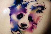Panda tatoeages