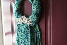 scarf wreaths