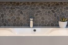 Pebble Designs / The Pebble series is Island Stone's original and largest range of tile, consisting of pebbles of the highest quality and incorporating an extensive array of colours and styles.