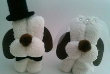 muñecos toalla