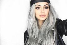 White-silver hair