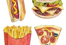 Ilustrácie - jedlo