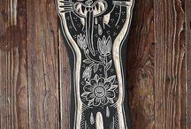 Bryn Perrot / Freaking cool woodcut art by Bryn Perrot.