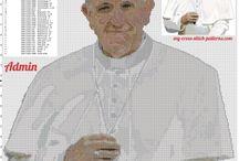 Religious free cross stitch patterns / Religious free cross stitch patterns, Angels, Pope, Virgin Mary, Jesus, Various...