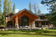 Timber Frame Homes / A pinboard featuring stunning timber frame homes.