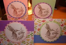 .heat embossing cards