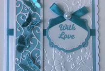 Blue butterfly card