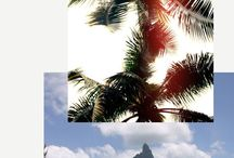 TWC-Inspo collage / Collage- mood boards of inspirational travel related imagery
