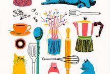 Kitchen patterns / kjøkken