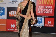 Shriya Saran Velvet Machine Work Black Bollywood Style Saree