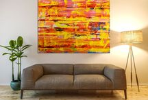 Abstract landscapes / All my artwork is on gallery quality heavy duty stretched and triple primed cotton canvas and ready to hang. I include a certificate of authenticity that lists the materials as well as when the painting was completed. Fine high quality materials such as Golden and Sennelier products are used and UV protective enamel for sunlight protection.   Each painting is carefully packed and padded for a safe delivery. Paintings shipped with a tracking number.