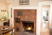 Restored Fireplaces / Some photos from our past projects and other inspiring images. The restoration of original fireplaces in kitchens and living rooms of older homes can provide a dramatic focal point. In more modern homes, the reuse of an antique hearth adds a vintage detail to contemporary lines that bridges the past with the present.