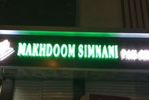 Axis Letters Signage Board / LED signage, neon signage and name board work done by our company.