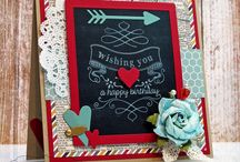 Chalkboard Cards / Love Chalkboard?  How about using it on cards! Love these!